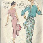 1957-Vintage-VOGUE-Sewing-Pattern-B34-DRESS-JACKET-1823R-252882165982