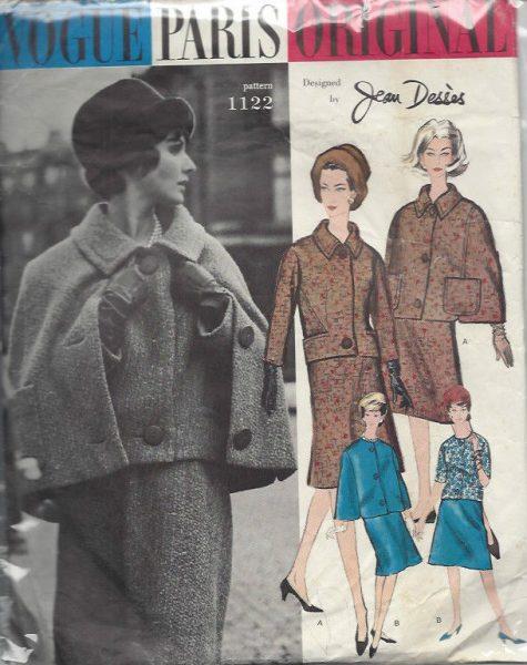 Belinda Bellville 1033R 1960s Vintage VOGUE Sewing Pattern B34 JACKET /& DRESS