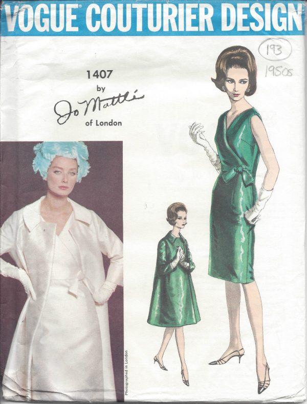 1964 Vintage VOGUE Sewing Pattern B36\