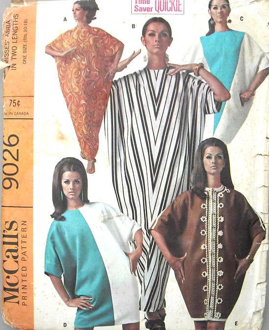 1967 Vintage Sewing Pattern B30-to-38 CAFTAN (1328) - The Vintage ...