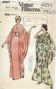 1970s-Vintage-VOGUE-Sewing-Pattern-B34-ROBE-DRESS-R877-251902458022