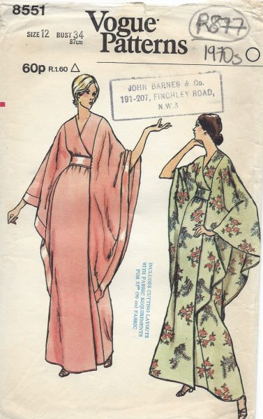 1973 Vintage VOGUE Sewing Pattern B34\