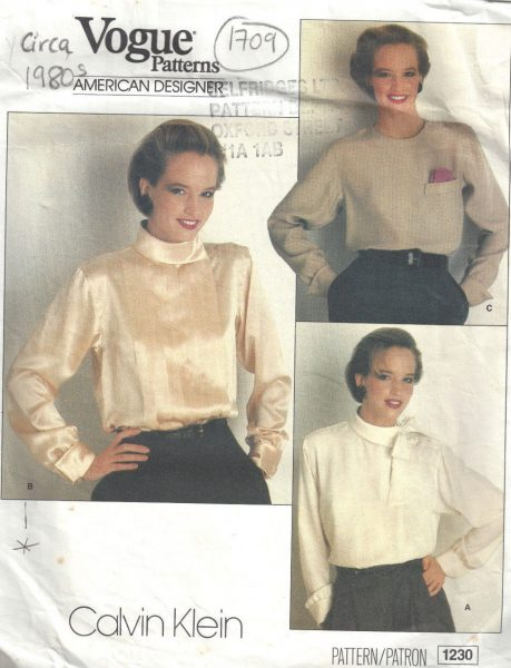 cc055bbe466619 VOGUE 1980s Blouse and Tops Vintage Patterns for sale online