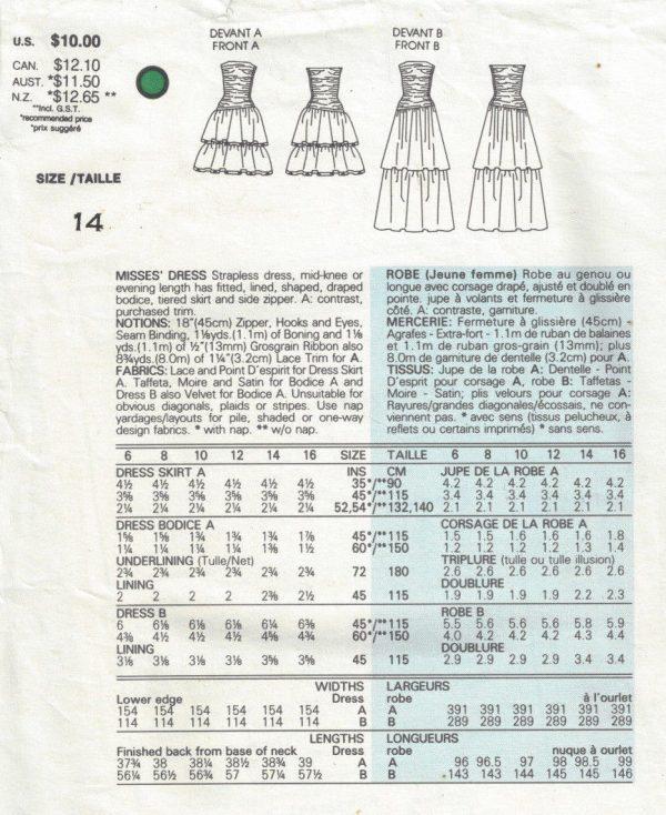 1985-Vintage-VOGUE-Sewing-Pattern-DRESS-B36-1702-By-Kasper-262557478952-2