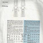 1986-Vintage-VOGUE-Sewing-Pattern-MOCK-WRAP-DRESS-B36-38-40-1703-RALPH-LAUREN-252484232772-2