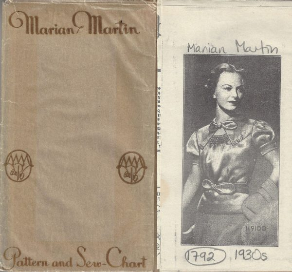 1930s-Vintage-Sewing-Pattern-B34-BLOUSE-1792-By-Marian-Martin-262893711463-2