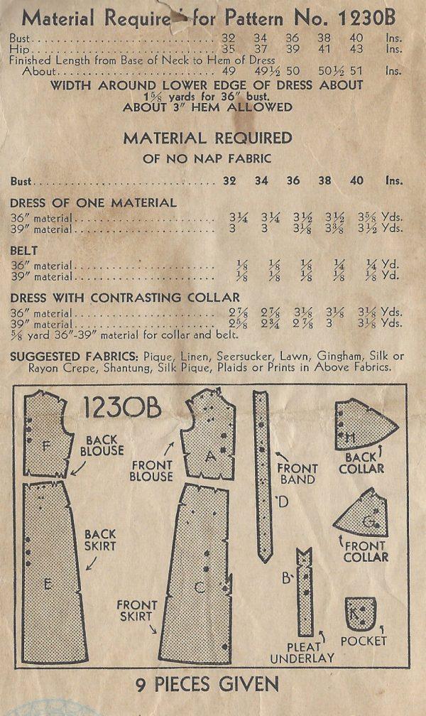 1930s-Vintage-Sewing-Pattern-B34-DRESS-1301-261529012043-2