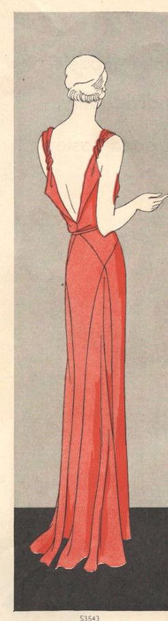 1931-Vintage-VOGUE-Sewing-Pattern-B34-DRESS-1035R-262847894493