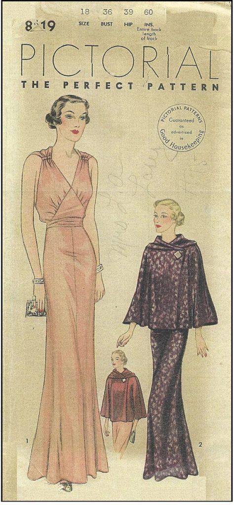 """1930s Vintage Sewing Pattern B36/"""" Swagger Abrigo R551 Falda Blusa /&"""