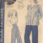 1940-WW2-Vintage-Sewing-Pattern-B34-SHIRT-PANTS-SLACKS-1491R-252081940453