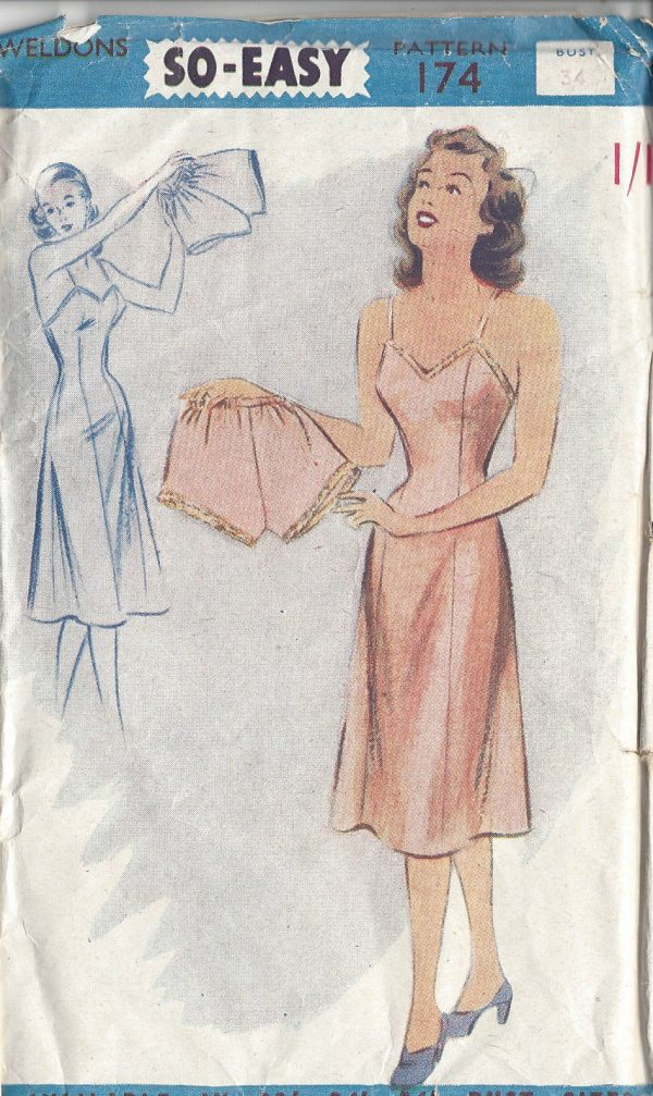 1940s-Vintage-Sewing-Pattern-B34-SLIP-KNICKERS-R594-251146671393