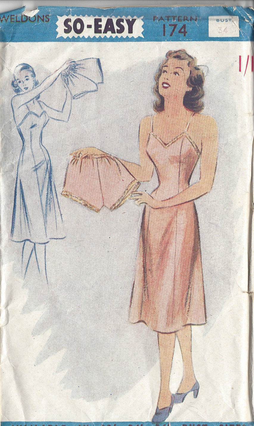 1940s Vintage Sewing Pattern B34 Quot Slip Amp Knickers R594