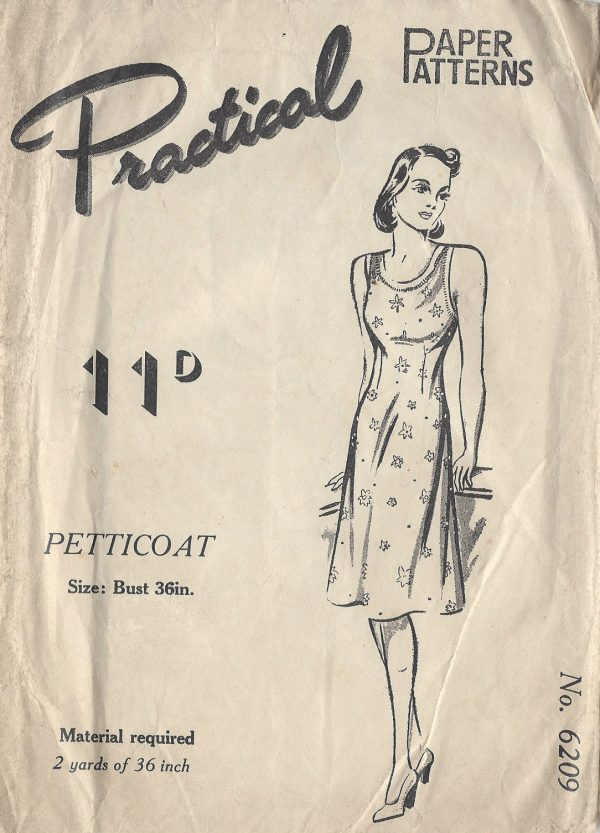 1940s-Vintage-Sewing-Pattern-B36-PETTICOAT-R612-251149768923