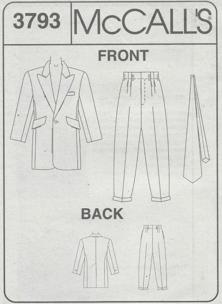 1940s Vintage Sewing Pattern C34-TO-48 MEN\'S ZOOT SUIT (1071) - The ...