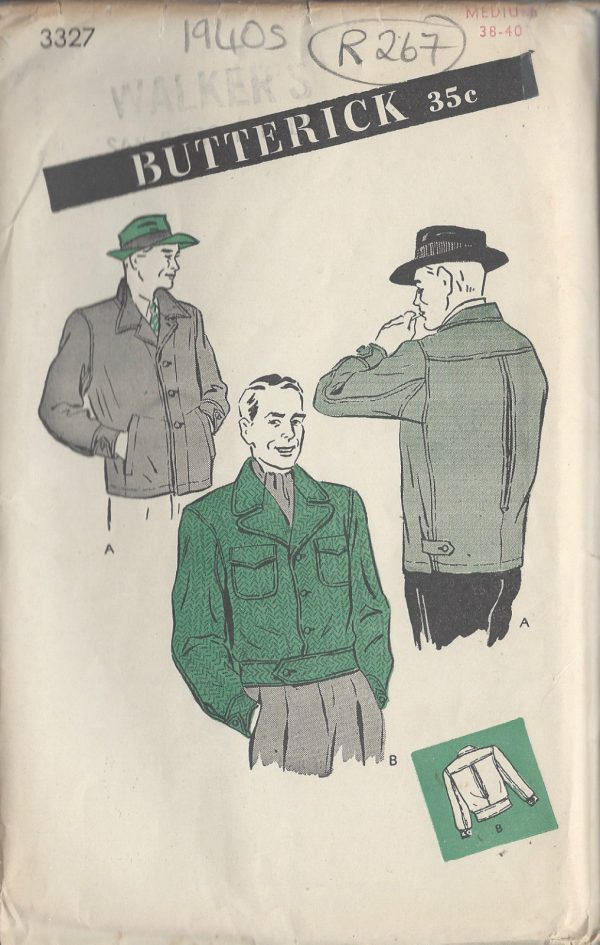 1940s-Vintage-Sewing-Pattern-MENS-JACKET-C38-40-R267-251143173953
