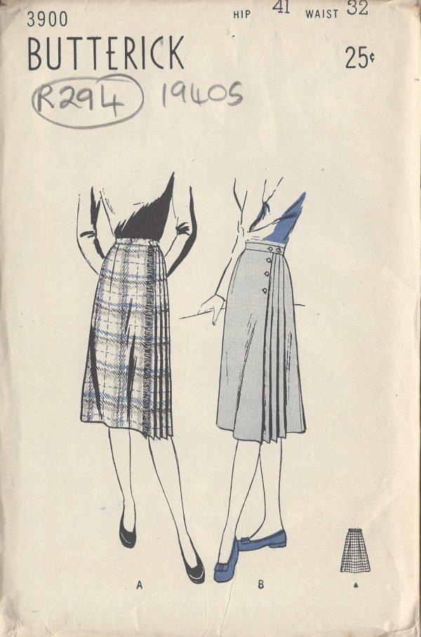 1940s Vintage Sewing Pattern SKIRT W32\