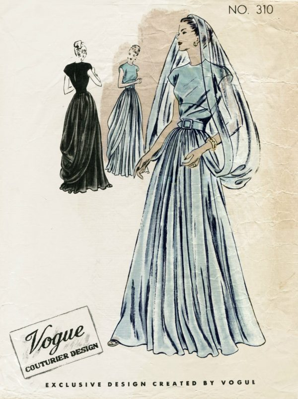 1946 Vintage Vogue Sewing Pattern B36 Quot Evening Dress