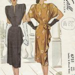 1947-Vintage-Sewing-Pattern-B32-DRESS-1488-252077943753