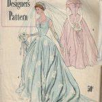 1950-Vintage-Sewing-Pattern-B34-BRIDAL-GOWN-BRIDEMAIDS-DRESS-1763-252701359303