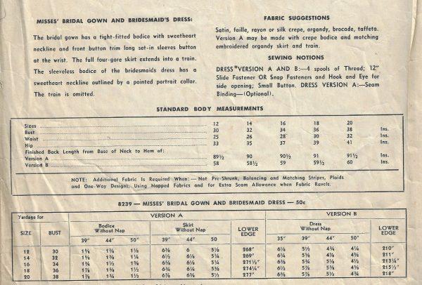 1950-Vintage-Sewing-Pattern-B34-BRIDAL-GOWN-BRIDEMAIDS-DRESS-1763-252701359303-2