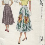 1950-Vintage-Sewing-Pattern-W28-SKIRT-1253-251536513743