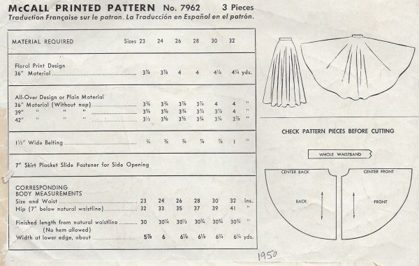 1950-Vintage-Sewing-Pattern-W28-SKIRT-1253-251536513743-2
