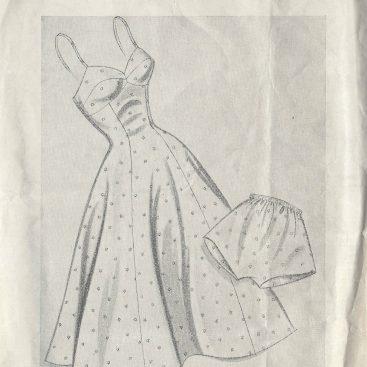 1950 Vintage Sewing Pattern B33 BATHING SUIT & SKIRT (R975) - The ...