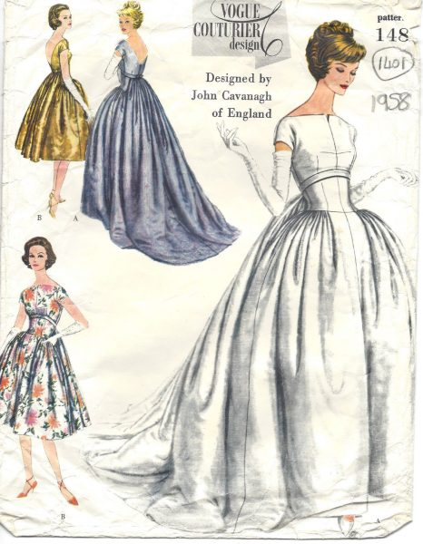 1958 Vintage VOGUE Sewing Pattern B34 EVENING DRESS GOWN (1401) BY ...