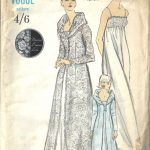 1960s-Vintage-VOGUE-Sewing-Pattern-B36-NIGHTGOWN-ROBE-1652-252397905713