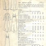 1960s-Vintage-VOGUE-Sewing-Pattern-B36-NIGHTGOWN-ROBE-1652-252397905713-3