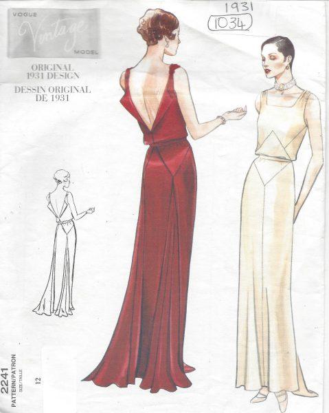 1931 Vintage VOGUE Sewing Pattern B34 DRESS (1035) - The Vintage ...