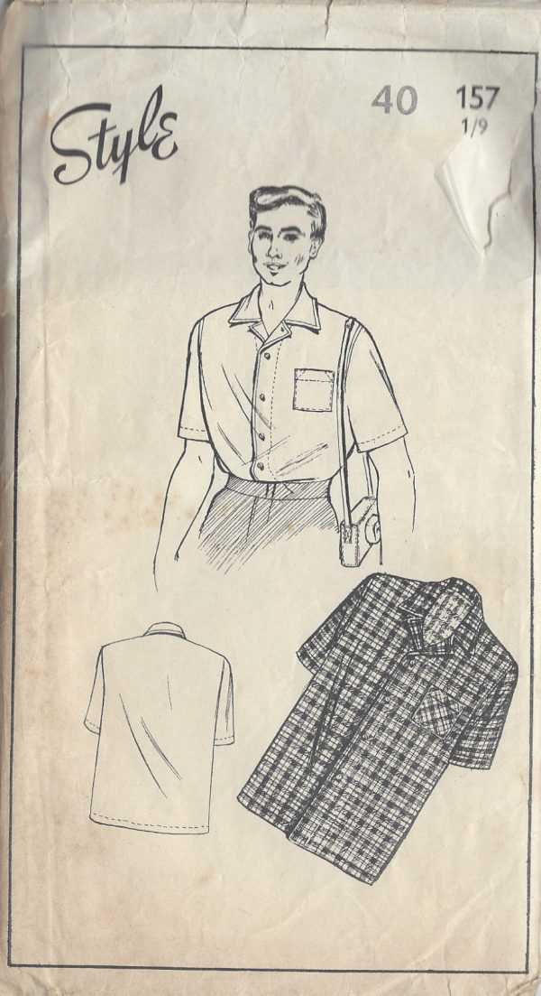 1940s-Vintage-Sewing-Pattern-MENS-SHIRT-S40-R642-251175154764