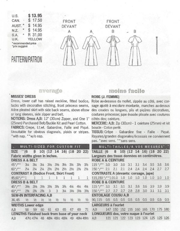 1950-Vintage-Sewing-Pattern-DRESS-B34-36-38-R415-251142610244-2