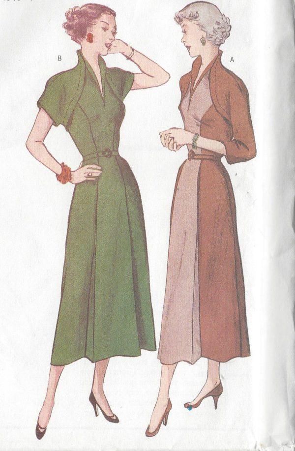 1950-Vintage-Sewing-Pattern-DRESS-B34-36-38-R415-251142610244