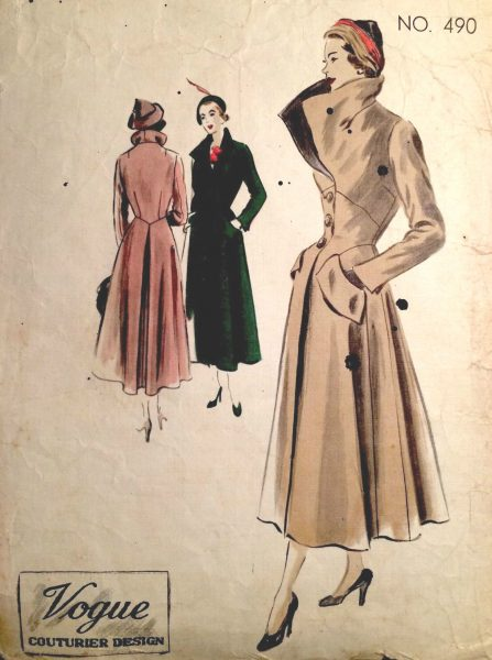 1950s Vintage VOGUE Sewing Pattern B38 COAT (1387) - The Vintage ...