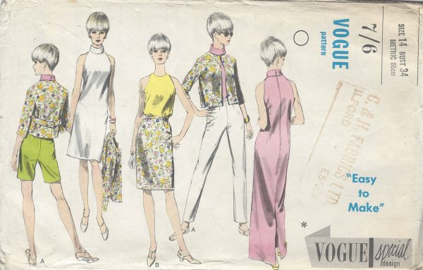 196Os Vintage VOGUE Sewing Pattern B34 DRESS BLOUSE JACKET PANTS ...