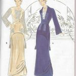1900s-Edwardian-Vintage-Sewing-Pattern-TWO-PIECE-DRESS-B34-36-38-R774-251559168285