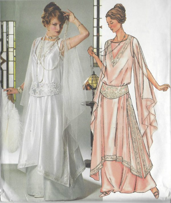 1914-Vintage-Sewing-Pattern-TUNIC-GOWN-GIRDLE-B34-36-38-R992-251277457365