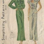 1930s-Vintage-Sewing-Pattern-B34-DRESS-1677-262513091505