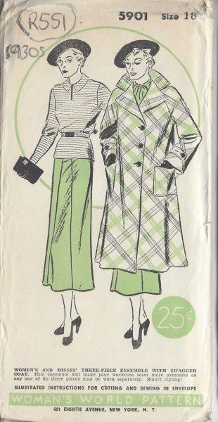 1930s Vintage Sewing Pattern B36\