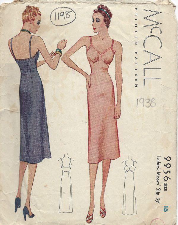1938-Vintage-Sewing-Pattern-B34-SLIP-1198-261448567385