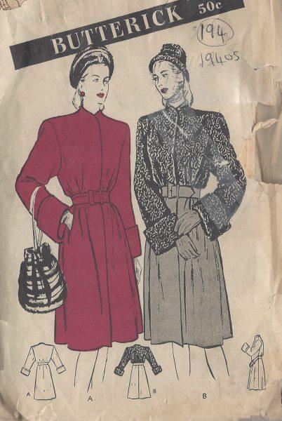 "1945 Vintage Sewing Pattern CAPE B32/"" R254"