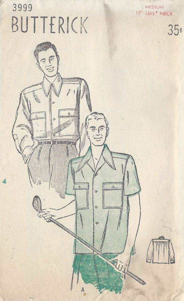 1940s-Vintage-Sewing-Pattern-MENS-SPORT-SHIRT-S15-12-C38-40-1289-261514366615