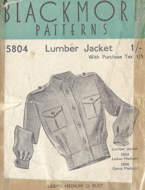 1940s-WW2-Vintage-Sewing-Pattern-B36-LUMBER-JACKET-LADIES-1361-261680837135