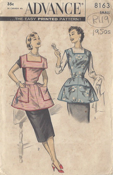 1950s-Vintage-Sewing-Pattern-APRON-B3132-SMALL-R119-251165073885