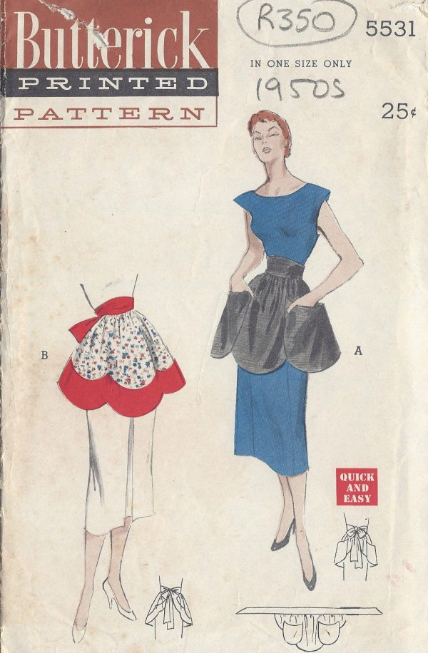 1950s-Vintage-Sewing-Pattern-APRON-ONE-SIZE-R350-251145594065