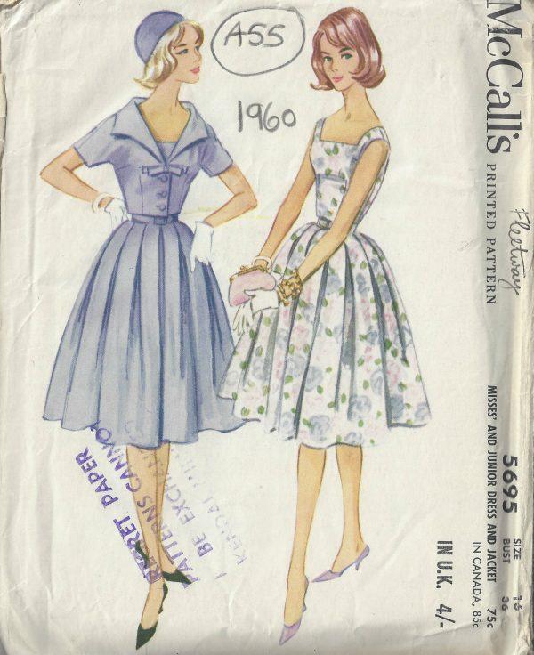 1960 Vintage Sewing Pattern B36\