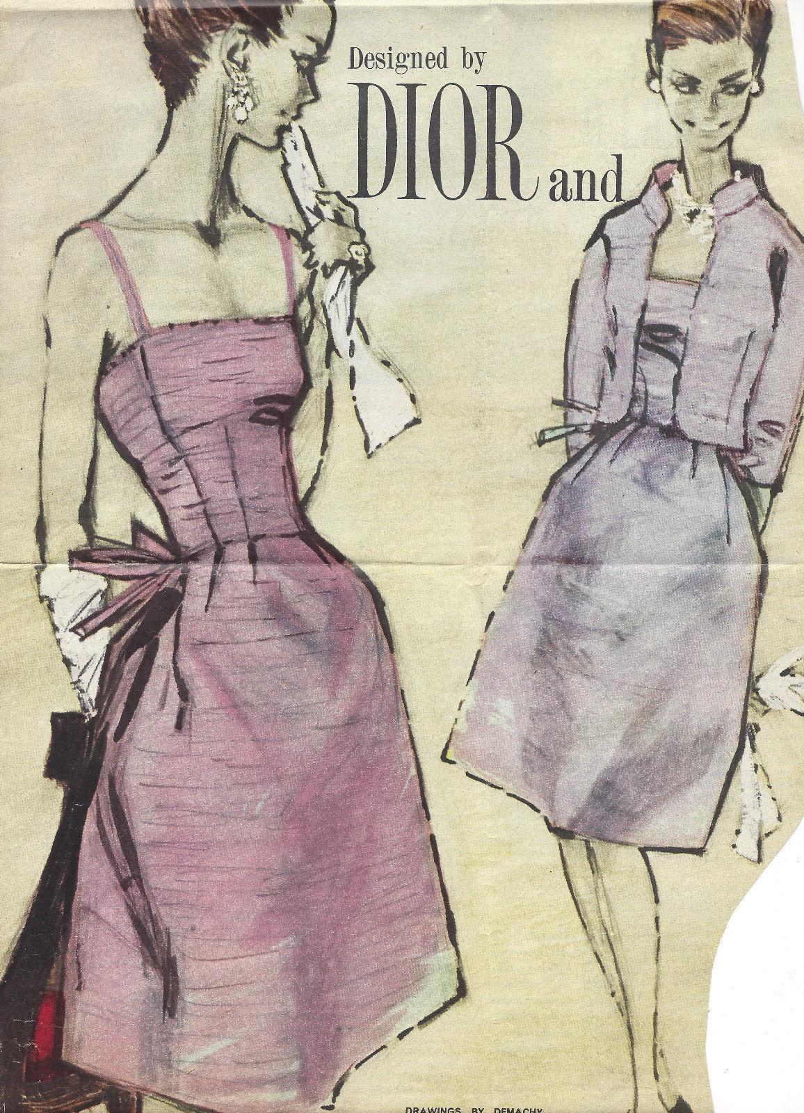 1960s Vintage Sewing Pattern B36 JACKET & DRESS (R996) By Christan ...
