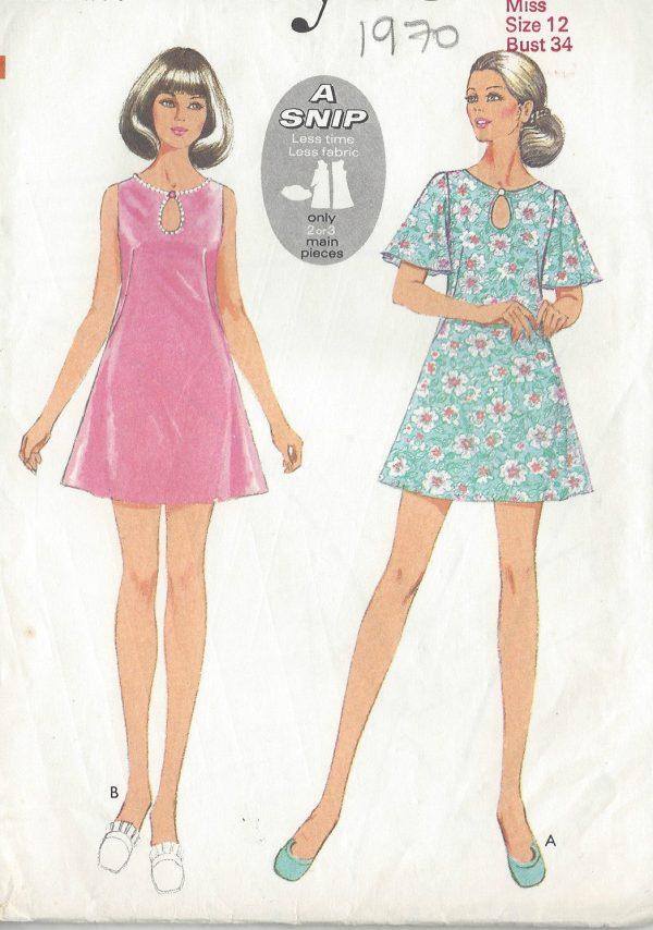 1970 Vintage Sewing Pattern B34 DRESS R683 251181560465
