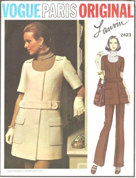 1970 Vintage VOGUE Sewing Pattern B32.5 JUMPER DRESS SKIRT & PANTS ...